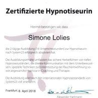 Zertifikat_Hypnotiseurin
